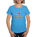 I Love Springer Spaniels Women's Dark T-Shirt