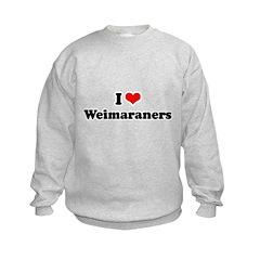 I Love Weimaraners Sweatshirt
