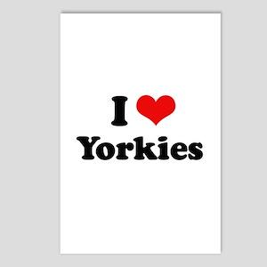 I Love Yorkies Postcards (Package of 8)