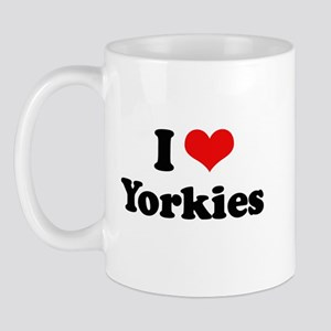 I Love Yorkies Mug