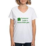 Everyone loves a drunk Irish girl Women's V-Neck T