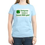 Everyone loves a drunk Irish girl Women's Light T-