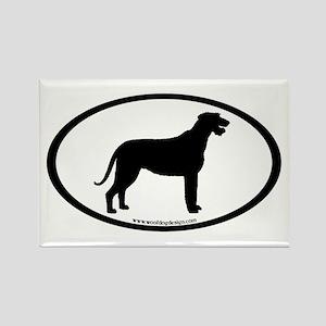 Irish Wolfhound Oval Rectangle Magnet