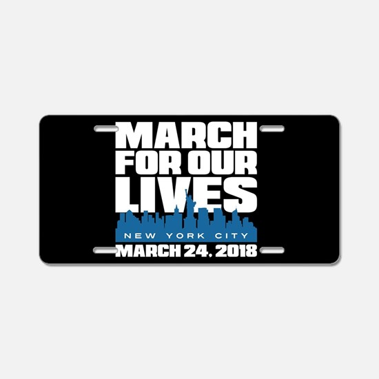March For Our Lives New Yor Aluminum License Plate