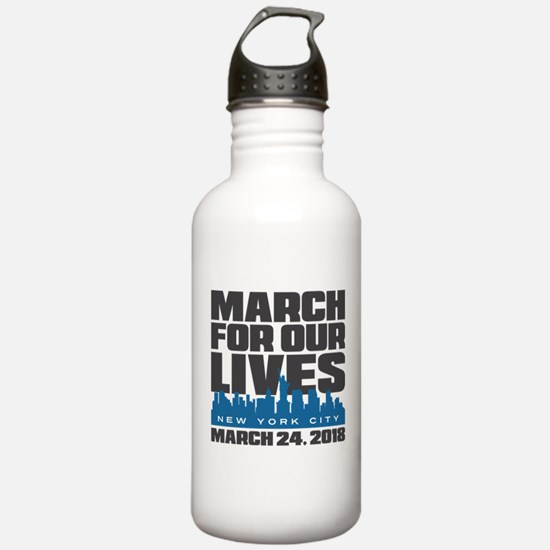 March For Our Lives Ne Water Bottle