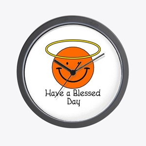 Have a Blessed Day Wall Clock