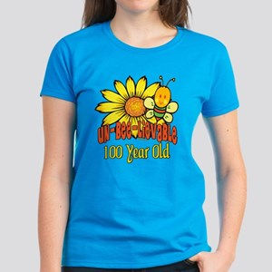 Un-Bee-Lievable 100th Women's Dark T-Shirt