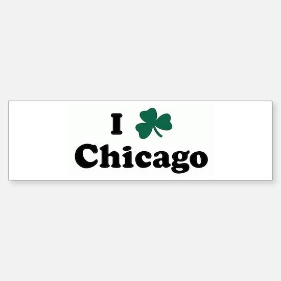 I Shamrock Chicago Bumper Bumper Bumper Sticker