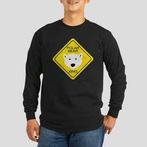 Polar Bear Crossing Long Sleeve Dark T-Shirt