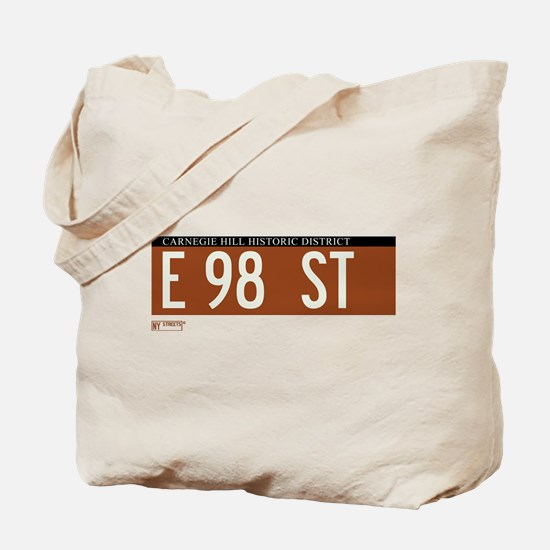 98th Street in NY Tote Bag