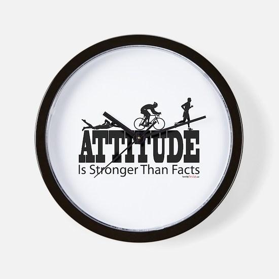 Attitude Is Stronger Triathlon Wall Clock