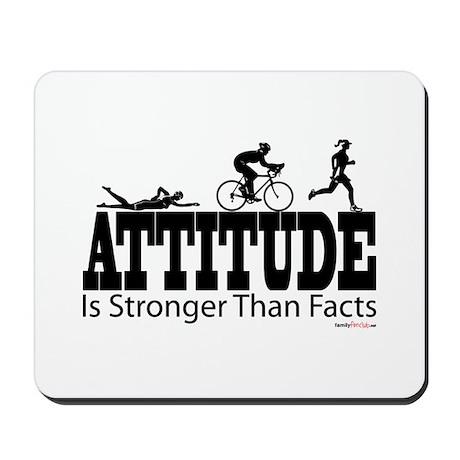 Attitude Is Stronger Triathlon Mousepad