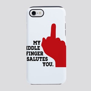 middle finger iPhone 8/7 Tough Case