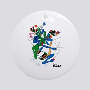 The Frog's Rock Band Ornament (Round)