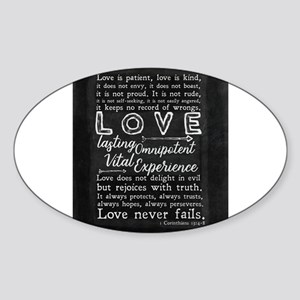 1 Corinthians 13:4-8 Love is patient Sticker