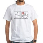 Press Button Get Bacon White T-Shirt