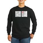 Press Button Get Bacon Long Sleeve Dark T-Shirt