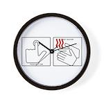 Press Button Get Bacon Wall Clock