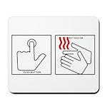 Press Button Get Bacon Mousepad