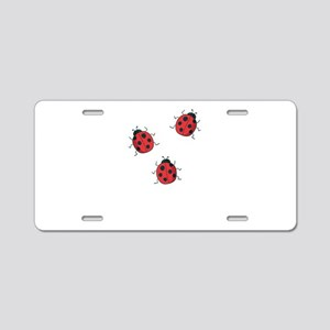 ladybird Aluminum License Plate