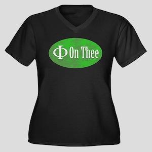 Phi on Thee Women's Plus Size V-Neck Dark T-Shirt