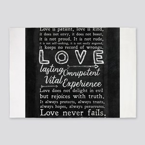 1 Corinthians 13:4-8 Love is patien 5'x7'Area Rug