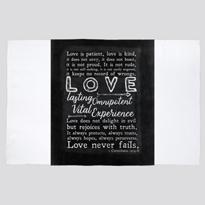 1 Corinthians 13:4-8 Love is patient 4' x 6' Rug