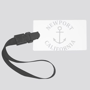 Summer newport- california Large Luggage Tag