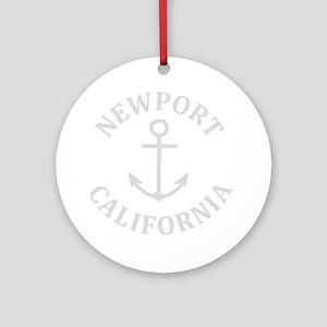 Summer newport- california Round Ornament