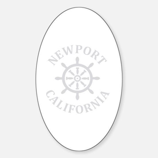 Cute Newport beach Sticker (Oval)