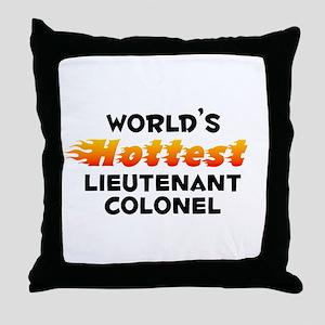 World's Hottest Lieut.. (B) Throw Pillow