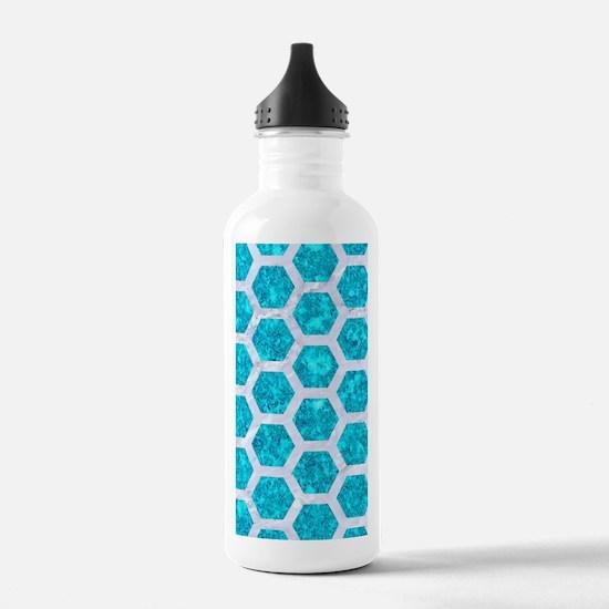 HEXAGON2 WHITE MARBLE Water Bottle