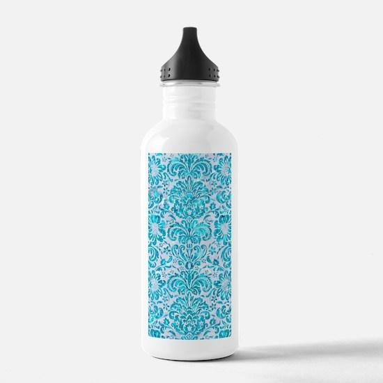 DAMASK2 WHITE MARBLE & Water Bottle