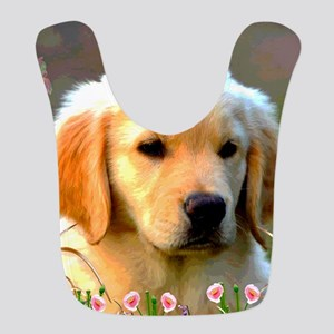 Austin The Retriever Puppy Polyester Baby Bib