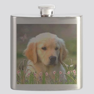 Austin The Retriever Puppy Flask