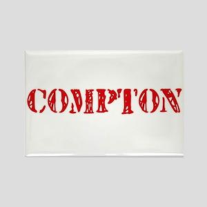 Compton Retro Stencil Design Magnets