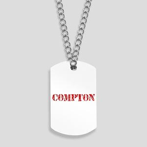 Compton Retro Stencil Design Dog Tags