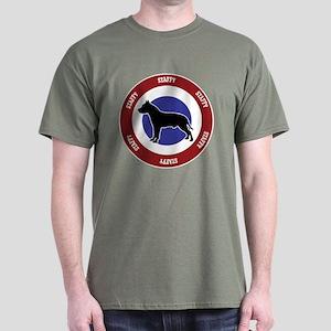 Cropped Staffy Bullseye Dark T-Shirt