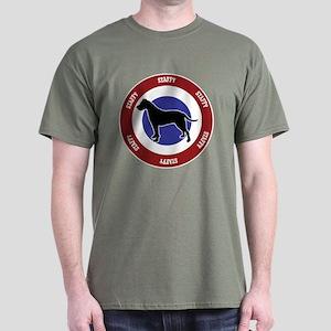 Uncropped Staffy Bullseye Dark T-Shirt