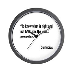 Confucious Coward Quote Wall Clock