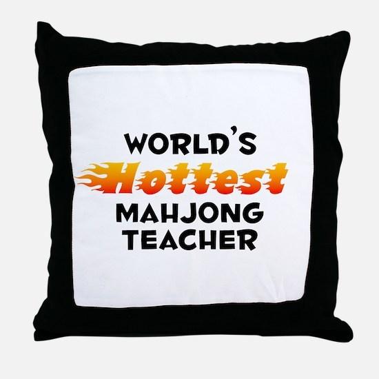 World's Hottest Mahjo.. (B) Throw Pillow