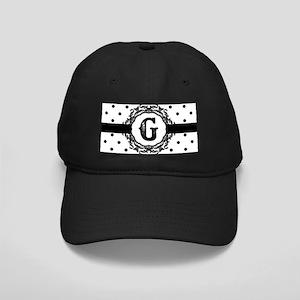 Black Monogram: Letter G Black Cap with Patch