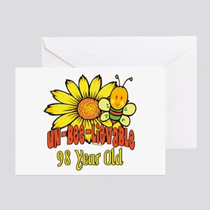 Un-Bee-Lievable 98th Greeting Card