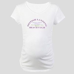 Mackinac Beach Club Maternity T-Shirt