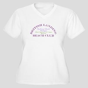 Mackinac Beach Club Women's Plus Size V-Neck T-Shi