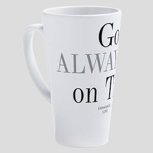 God always on time-Christian Bible 17 oz Latte Mug