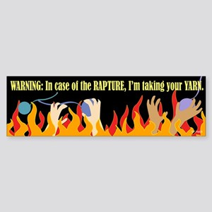 In Case of the Rapture Bumper Sticker