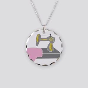 Sewing Machine Necklace Circle Charm