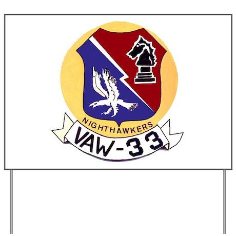 VAW 33 Knighthawks Yard Sign