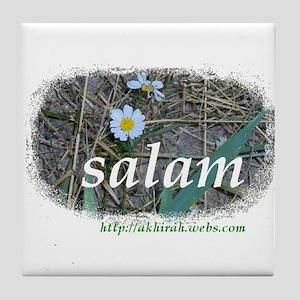 """Salam"" Flowers Tile Coaster"